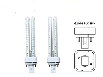 DiluxeLED - Pack x2 Lámpara Downlight LED G24 11 watios(equivalente a 110 watios)