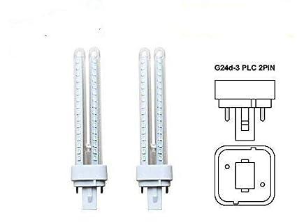 DiluxeLED - Pack x2 Lámpara Downlight LED G24 11 watios(equivalente a 110 watios)