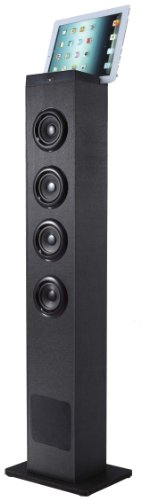 2.1 Channel Tower Speaker (Sylvania SP386 Bluetooth 2.1 Channel Tower Speaker With Built In Subwoofer)