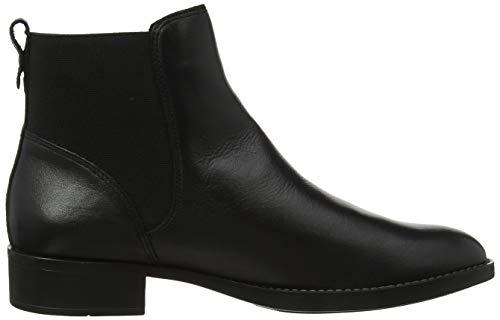 Chelsea Bfalva 100 Negro Para black Mujer Bianco Botines Leather OEWq7Owg
