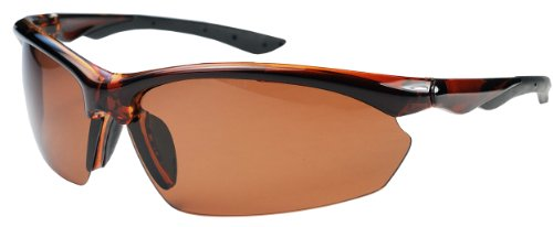 Copper Polarized Frame - P52 Polarized Super Light Frame Sunglasses for Fishing & Active Lifestyles (Caramel & Copper)