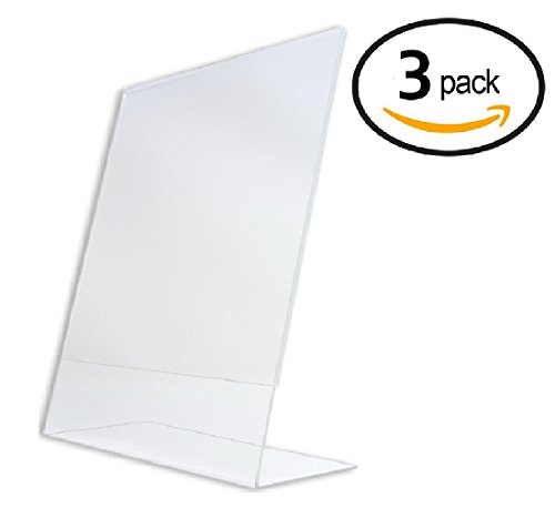 Tz Tagz Brand 8 5 X 11 Inch Clear Acrylic Plexi Sign Holders   Single Sheet Slanted Easel 8 1 2X11  3