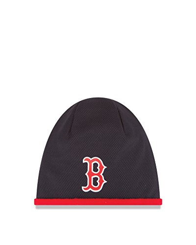 New Era MLB Boston Red Sox 2015 Tech Knit Beanie, Blue, One Size Fits All
