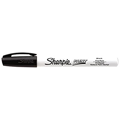 Sharpie Oil-Based Paint Marker, Fine Point, Black, 1 Count - Great for Rock Painting: Office Products