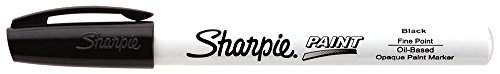 Sharpie Oil-Based Paint Marker, Fine Point, Black, 1 Count - Great for Rock Painting