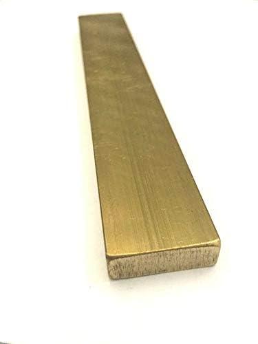 C0017 8 x Raw Brass Flat Bar Charms 35x3mm Unplated Brass Rectangular Pendants