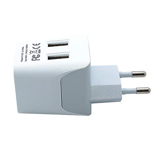 Ceptics CTU-9C USA to Most of Europe Travel Adapter Plug with Dual USB - Type C - Ultra Compact...
