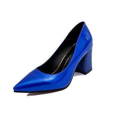 Zormey Tacones Mujer Primavera Verano Otoño Invierno Club Zapatos Zapatos Formales Polipiel Oficina Exterior &Amp; Carrera Casual Chunky Talón Caminar Conjunto Dividido US7.5 / EU38 / UK5.5 / CN38