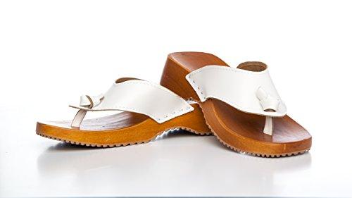 Chanclas, sandalias, sandalia, de piel sintética blanco - blanco