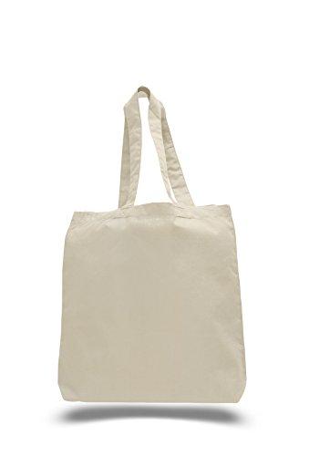 "Eco-Friendly 100% Cotton Canvas Tote Bag 15"" X 16"" X 3"" Bea"