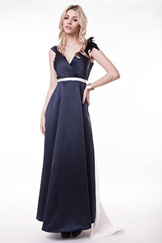 V Doppel Kleid Watteau Rückenfrei Beauty Arm Grün Ausschnitt Tailing Emily Abend Ohne ZqIxAwt