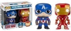 Funko POP! Civil War 2 PACK Captain America and Ironman FYE EXCLUSIVE by Funko POP!: Amazon.es: Juguetes y juegos