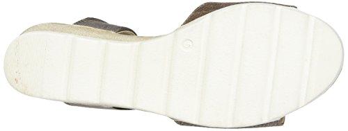 Caprice Women's 28701 Wedge Heels Sandals, Brown (Brown Met.Comb), 6 UK