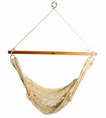 028929068178 - Algoma Hammocks Hanging Cotton Rope Chair carousel main 0