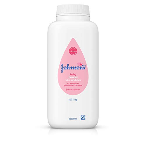 Johnson's Baby Powder, Hypoallergenic and Paraben Free, 4 oz (Packaging May Vary)