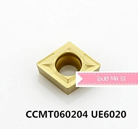 FINCOS CCMT060202/CCMT060204/CCMT060208 UE6020,Original CCMT 0602 02/04/08 Insert Carbide for Turning Tool Holder - Insert Width mm : CCMT060204 UE6020