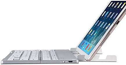 Teclado Bluetooth plegable Teclado inalámbrico Bluetooth plegable, teclado portátil para iOS, Android, Windows, computadoras portátiles, Smart TV, tabletas, teléfonos inteligentes y más, (negro, plate: Amazon.es: Hogar