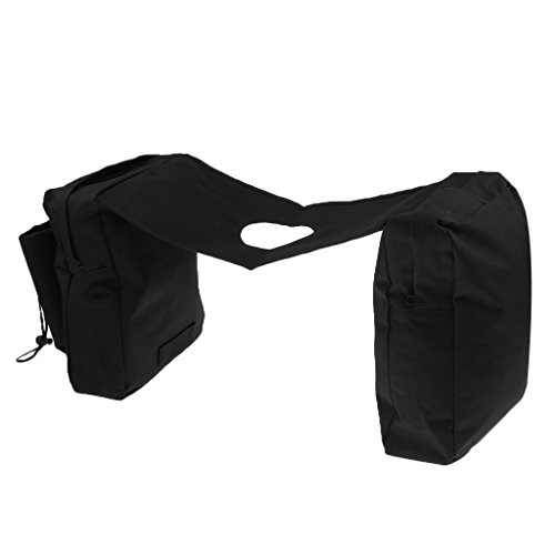 Jili Online Motorcycle Tank Saddle Bag for Pit Quad Bike ATV Snowmobile Scooter - Black