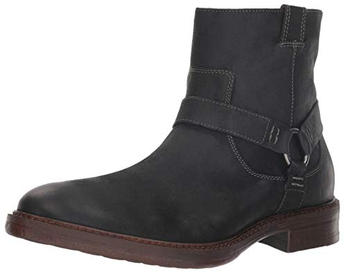 Lucky Brand Men's Hinton Ankle Boot, Dark Grey Leather, 10 M US