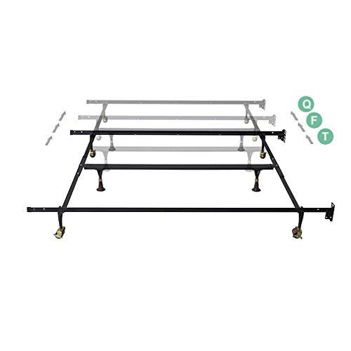 - Bed Frame Metal Platform Steel Frame Heavy Duty Adjustable Fit for Mattress Foundation and Box Spring