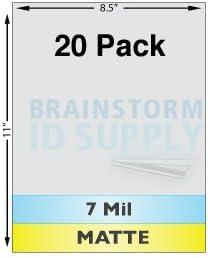 7 Mil Matte Full Sheet Laminates 10 Pack