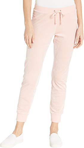 Juicy Couture Women's Track Luxe Velour Zuma Pants Sugared Icing Medium 27