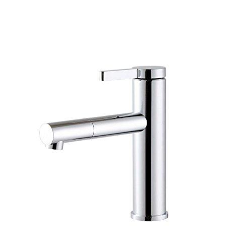 Hlluya Wasserhahn für Waschbecken Küche Die vollständige Kupfer Lack Lack Lack Einloch Becken von warmen und kalten Spritzwassergeschützt Tippen 542039