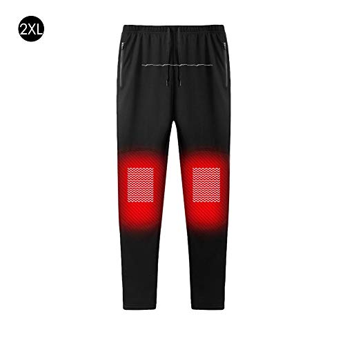 New Intelligent Heating Warm Trousers with USB for Men and Women Carbon Fiber Heating Pants Plus Velvet Warm Heating Pants Adjustable Charging Heated Pants Carbon for Camping Hiking Motorcycling