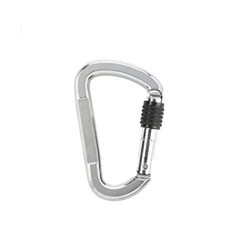 Silver 117cm Carabiner, Quality Assurance and Simple Carabiner, Professional Rock Climbing Mountain Insurance Safety Buckle (Silver, 11  7cm)