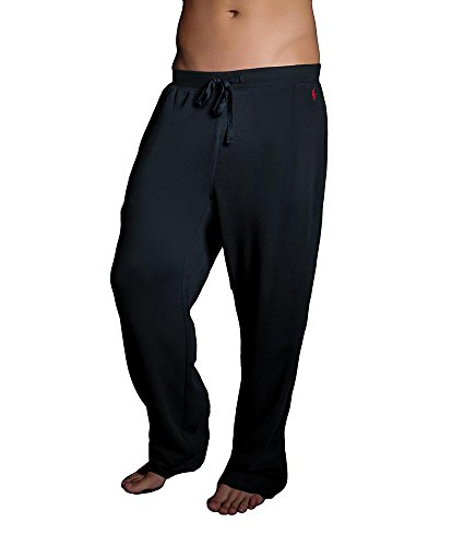 Polo Ralph Lauren Waffle Knit Lounge Pants, L, Polo Black