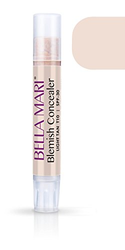 (Bella Mari Natural Blemish Concealer Stick, Light Tan; 0.1floz)