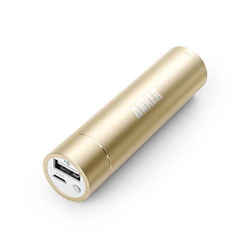 Anker PowerCore+ little black dress (3350mAh Premium material convenient Charger) Lipstick-Sized External Battery potential Bank for iPhone 6/6 Plus, iPad Air 2/mini 3, Galaxy S6/S6 Edge and much more (Gold)