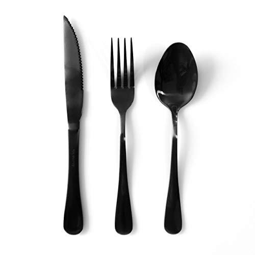 Jogo Talheres de Mesa Gourmet Black para 4 pessoas