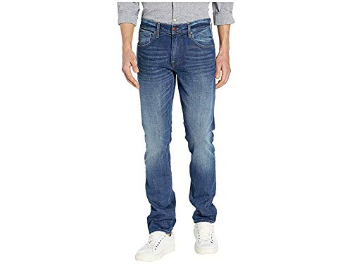 Hudson Jeans Men's Blake Slim Straight Zip in Watts Watts 36 34