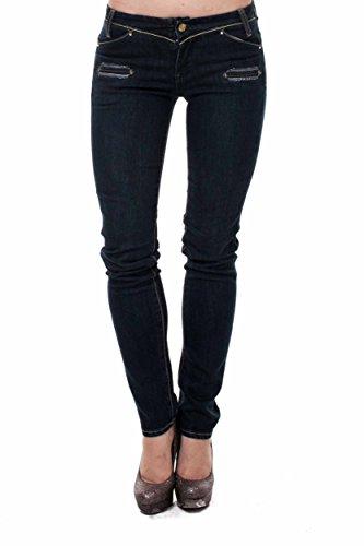 VIRGIN ONLY Women's Slim Fit Skinny Jeans (Dark Blue ,11)