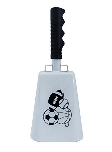 Sporting Fan Bell - 12 inch Cowbell with Black Handle Sports
