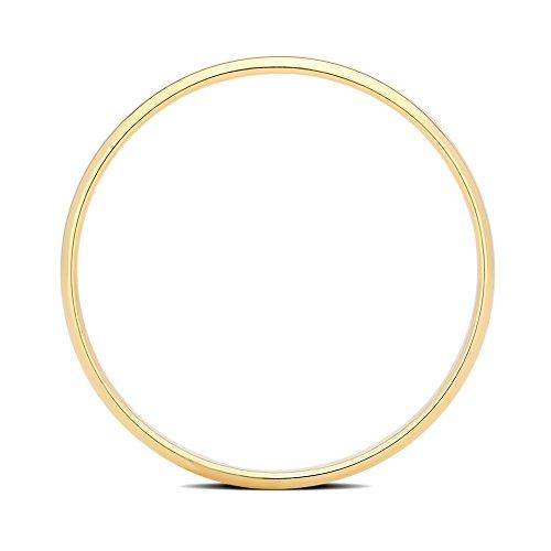 DiamondMuse 2 mm Plain Wedding Band in 10K Yellow Gold (9) by DiamondMuse (Image #1)