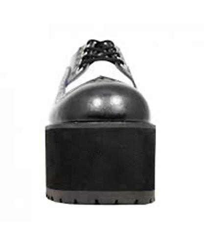 Nosebleed k White Shoes New Tuk amp; A8621l Wingtip T Black u Heels Leather vRwFa