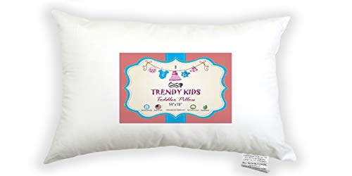 Trendy Kids 14x19 Toddler Pillow 100% Cotton Baby/Toddler/Travel Pillow 300TC Satin - No Extra Pillowcase/Sham Needed - Machine Washable and Hypoallergenic, Perfect for Kids, Satin from Trendy Kids
