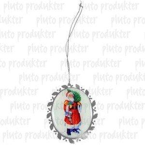 Santa Medallion White