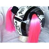 Pigtails for Helmets All Colors Works on Matte Helmets Too Pink