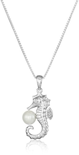 Sterling Seahorse Freshwater Cultured Necklace