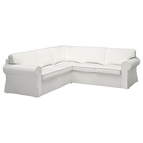(IKEA Original Ektorp Cover for sectional, 4-Seat Corner (Cover Only (Vittaryd White))