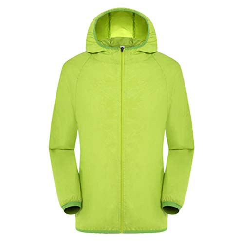 Mens Swift Hybrid Jacket - TANGSen_Mens Women Solid Hooded Jackets Windproof Ultra-Light Rainproof Windbreaker Long Sleeve Zipper Top Green