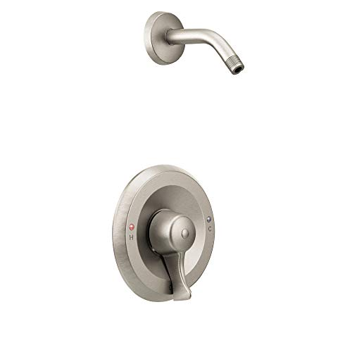Moen T8375NHCBN Commercial M-DURA PosiTemp Shower Only Trim Kit without Showerhead without Valve, Classic Brushed Nickel