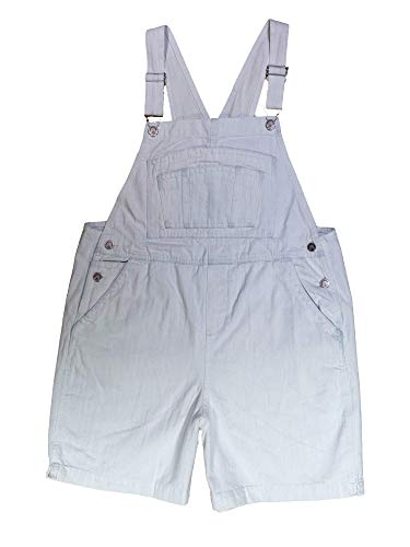 BoundOveralls Women's Plus Size Overall Shorts Bleached Wash Denim Size 18