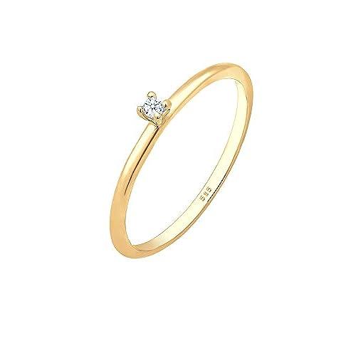 b75a3067d5e7 50% de descuento Diamore (DIAOV) Anillo de compromiso solitario Mujer oro  amarillo -