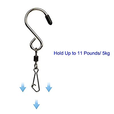 10pcs Swivel S Hooks Clips Hanging Wind Spinners for Chimes Crystal Twisters,Spinning Windsocks and Any Kites, Flower Pots, Plants, Bird Feeders, Solar Lights, Flags,Party Supply (Shook) : Garden & Outdoor