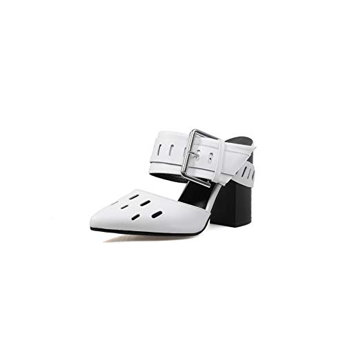 Sandales Eu Blanc 5 Compensées 36 Blanc Balamasa Femme Asl05620 BSwx5