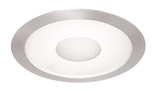 Juno Lighting 242-SC 6-Inch Perimeter Frosted Lens with Clear Center, Satin Chrome Trim ()